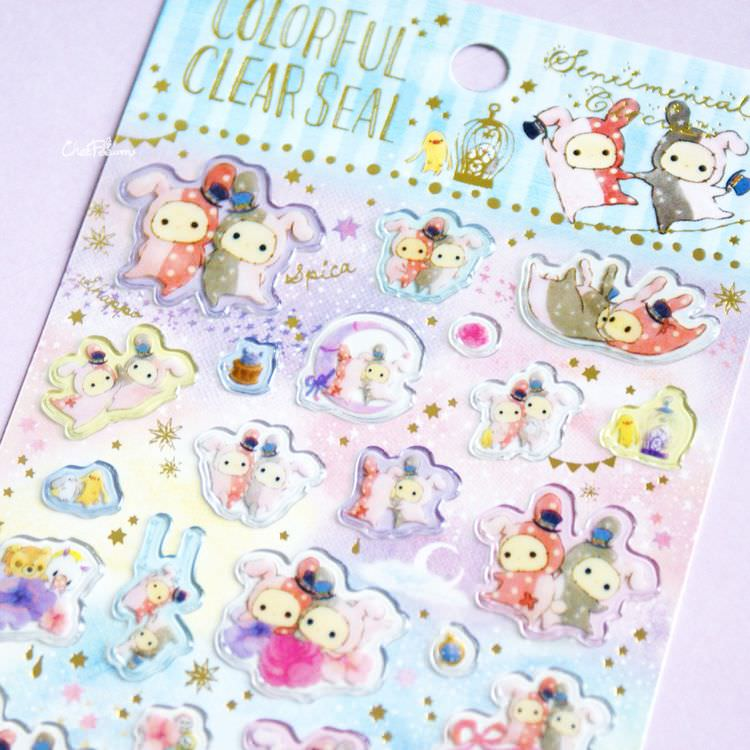 boutique kawaii shop papeterie chezfee sticker autocollant mignon sentimental circus pvc 6