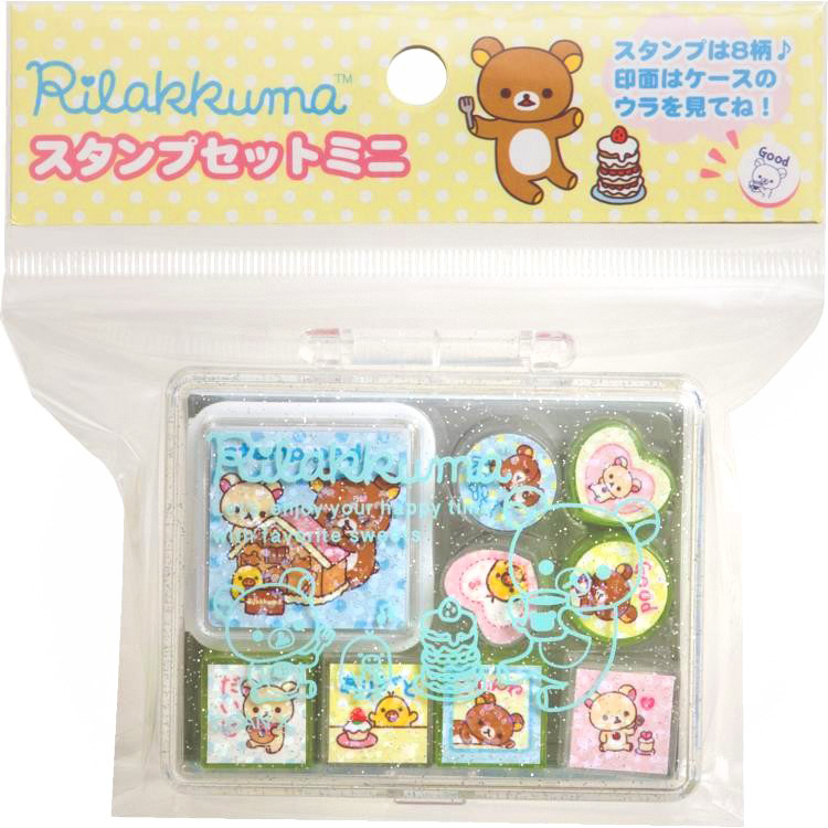 boutique kawaii shop france sanx rilakkuma tampon stamp gateaux 4