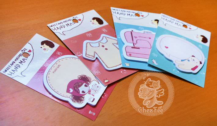 sticky note kawaii papeterie boutique magasin en ligne chezfee craft loisir set3