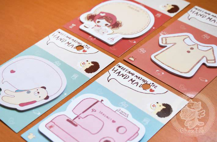 sticky note kawaii papeterie boutique magasin en ligne chezfee craft loisir set4