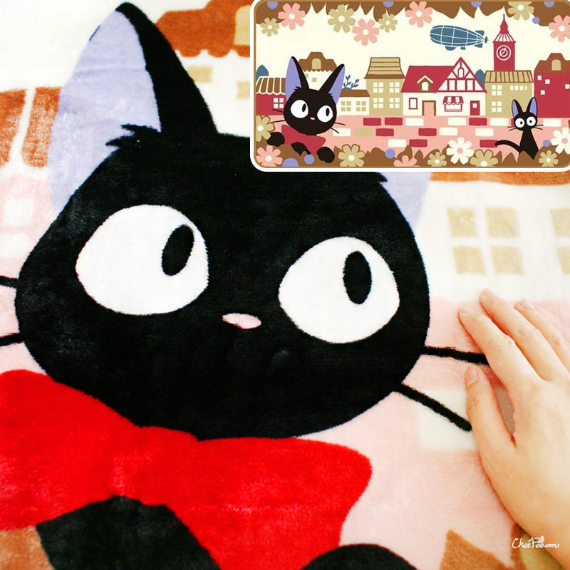 boutique kawaii shop chezfee france studio ghibli couverture polaire jiji chat noir 2