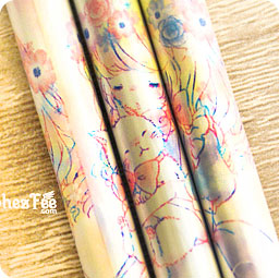 Stylo Crayon Gomme Kawaii Crayon Japonais Kawaii Fille Fleurs