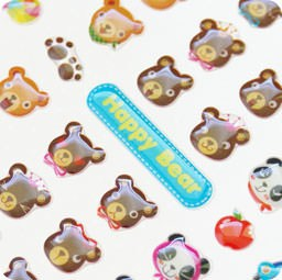 autocollant-kawaii-mignon-funny-sticker-nounours-happy-bear-papeterie-chezfee