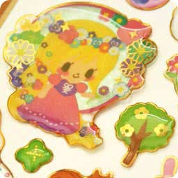 autocollant-mignon-sticker-kawaii-boutique-chezfee-com-conte-fee-3d-raiponce-cendrillon