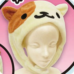 boutique-kawaii-chezfee-neko-atsume-authentique-bonnet-peluche-hiver-creme