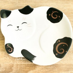 boutique-kawaii-shop-chezfee-assiette-japonais-yakushigama-chat-manekineko-bicolore-1