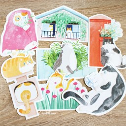 boutique-kawaii-shop-chezfee-carte-postale-postcard-chat-jardin-4