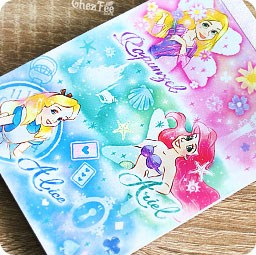 boutique-kawaii-shop-chezfee-disney-japon-papeterie-memo-carnet-princesses-ariel-alice