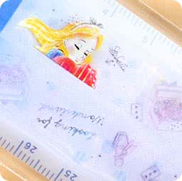 boutique-kawaii-shop-chezfee-papeterie-disney-japan-regle-alice-pliable