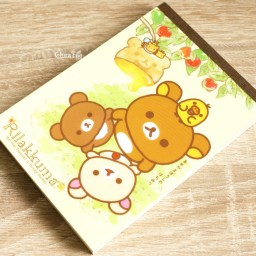 boutique-kawaii-shop-chezfee-sanx-officiel-rilakkuma-miel-foret-carnet-illustre-abeille-2