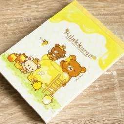 boutique-kawaii-shop-chezfee-sanx-officiel-rilakkuma-miel-foret-carnet-illustre-miam-1
