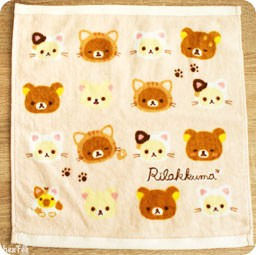 boutique-kawaii-shop-chezfee-serviette-carre-coton-sanx-rilakkuma-chat-nonbirineko