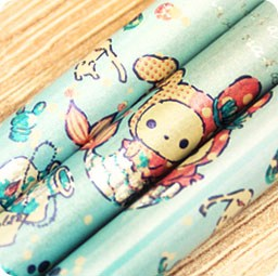 boutique-kawaii-shop-cute-chezfee-papeterie-crayon-sentimental-circus-larme-sirene-turquoise