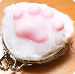 boutique-kawaii-shop-cute-chezfee-porte-monnaie-peluche-patte-chat-japonais-blanc