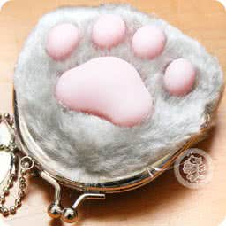boutique-kawaii-shop-cute-chezfee-porte-monnaie-peluche-patte-chat-japonais-gris
