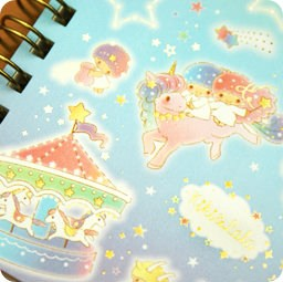 boutique-kawaii-shop-cute-japonais-papeterie-carnet-spiral-sanrio-little-twin-stars-licorne