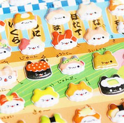 boutique-kawaii-shop-france-chezfee-sticker-japonais-3d-chat-sushi