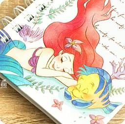 boutique-kawaii-shop-france-disney-japan-ariel-mermaid-sirene-papeterie-carnet-spiral