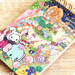 boutique-kawaii-shop-papeterie-japanaise-chezfee-sanx-officiel-sentimental-circus-elephant-carnet-spiral-village