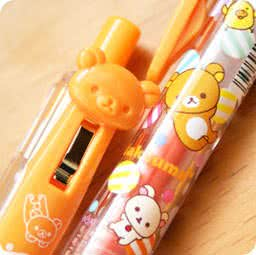 boutique-papeterie-kawaii-shop-chezfee-com-stylo-couleur-color-gel-pen-sanx-rilakkuma-orange