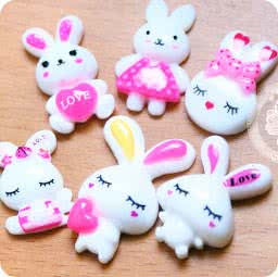 loisir-creatif-diy-accessoir-decoration-cabochon-decoden-mignon-boutique-kawaii-en-ligne-chezfee-lot-lapin