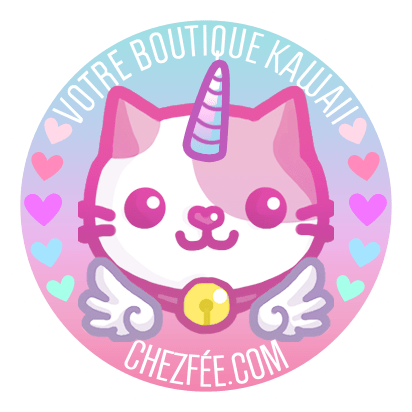 chezfee boutique kawaii shop cute france logo chat5 licorne2