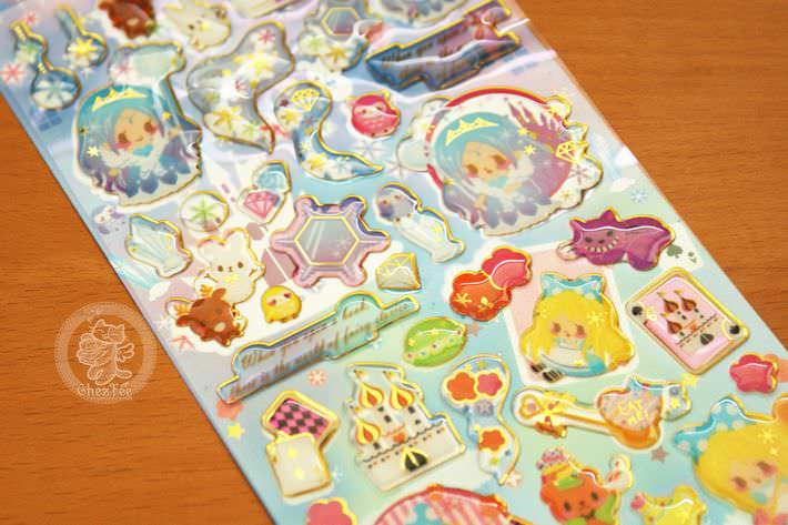 autocollant mignon sticker kawaii boutique chezfee com conte fee 3d reine neiges alice2