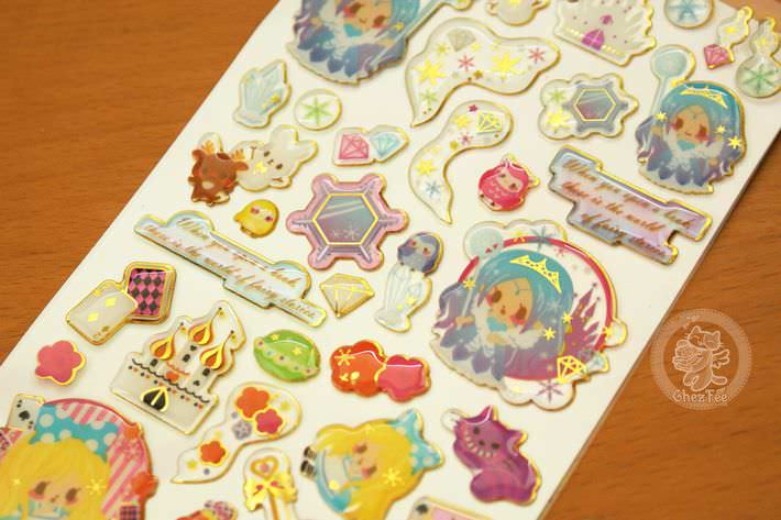 autocollant mignon sticker kawaii boutique chezfee com conte fee 3d reine neiges alice4