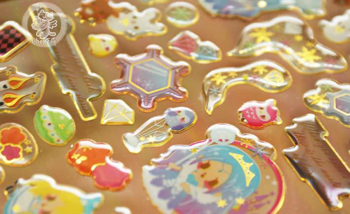 autocollant mignon sticker kawaii boutique chezfee com conte fee 3d reine neiges alice5