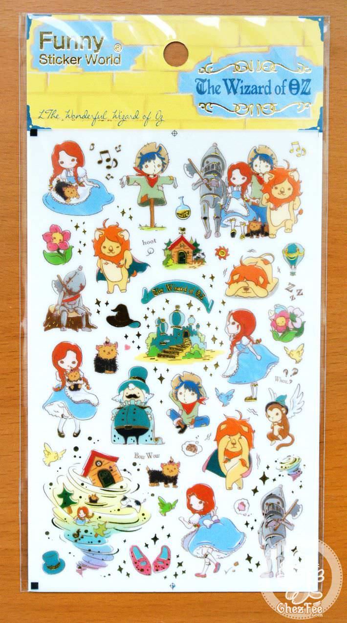 autocollant-mignon-funny-sticker-world-kawaii-mignon-conte-de-fee-le-magicien-oz-boutique-magasin-chezfee-com1
