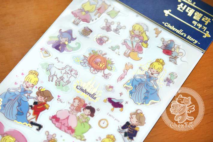 autocollant-sticker-kawaii-mignon-conte-de-fee-cinderella-chezfee-boutique-magasin1