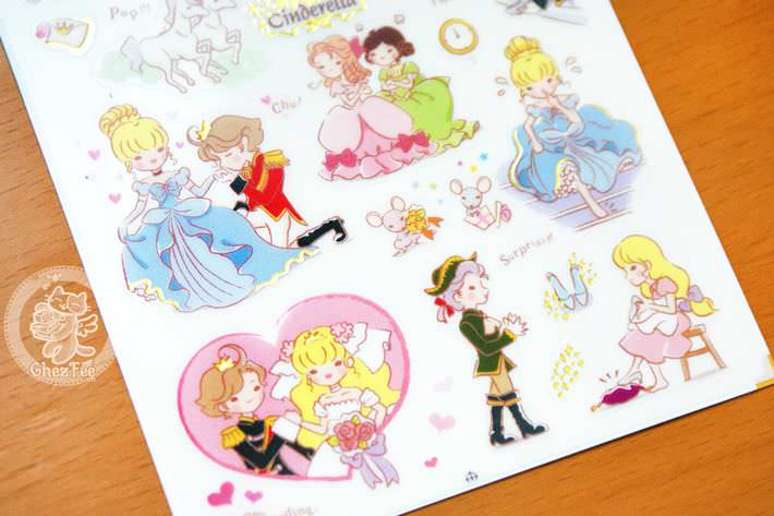 autocollant-sticker-kawaii-mignon-conte-de-fee-cinderella-chezfee-boutique-magasin2