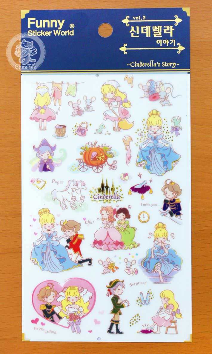 autocollant-sticker-kawaii-mignon-conte-de-fee-cinderella-chezfee-boutique-magasin4