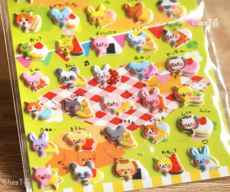 boutique kawaii shop france chezfee sticker japonais 3d animaux gateaux 2