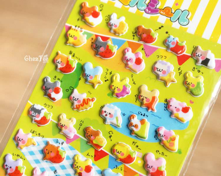 boutique kawaii shop france chezfee sticker japonais 3d animaux gateaux 3