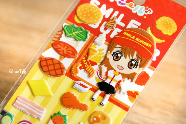 boutique kawaii shop france chezfee sticker japonais 3d restaurant fast food 2