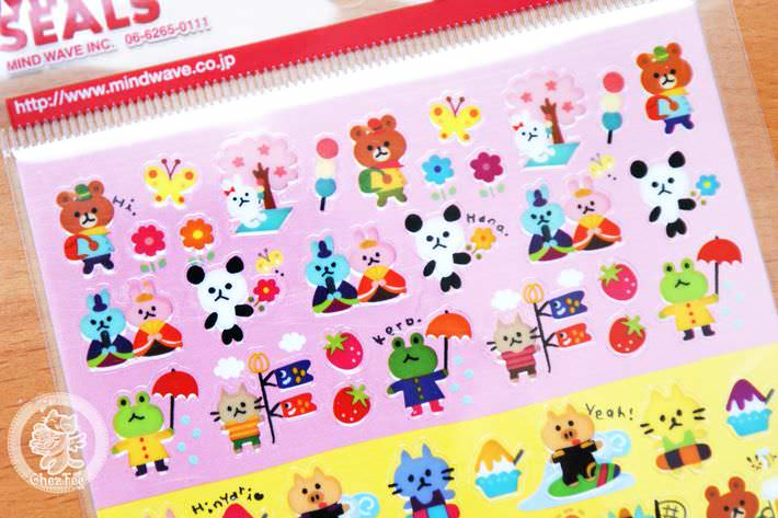 autocollant mignon sticker kawaii papeterie boutique kawaii chezfee com japon quatre seasons2