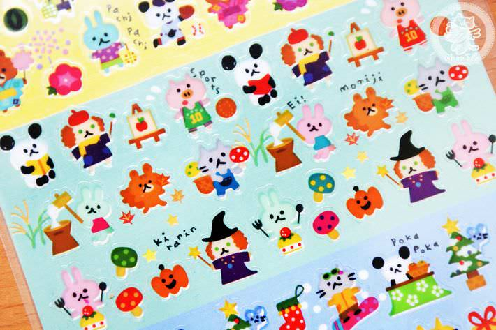 autocollant mignon sticker kawaii papeterie boutique kawaii chezfee com japon quatre seasons4