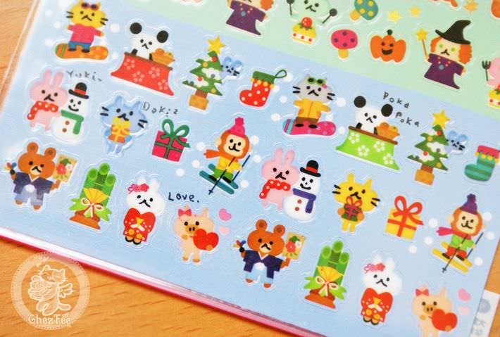 autocollant mignon sticker kawaii papeterie boutique kawaii chezfee com japon quatre seasons5