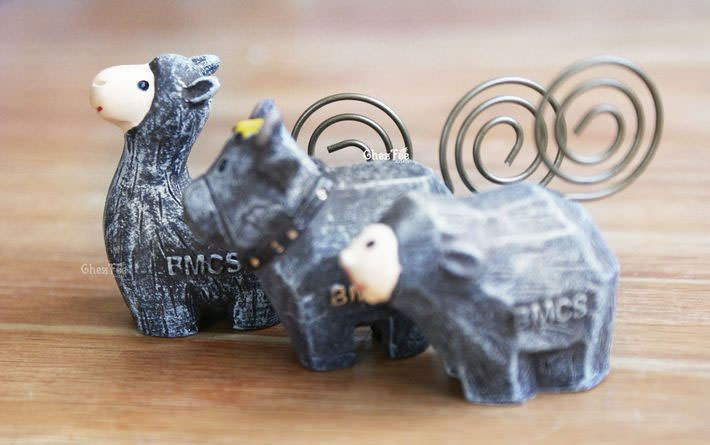 decoration-pince-porte-message-memo-figurine-animal-mignon-kawaii-lama2-chezfee