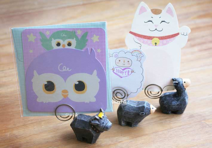 decoration-pince-porte-message-memo-figurine-animal-mignon-kawaii2-chezfee