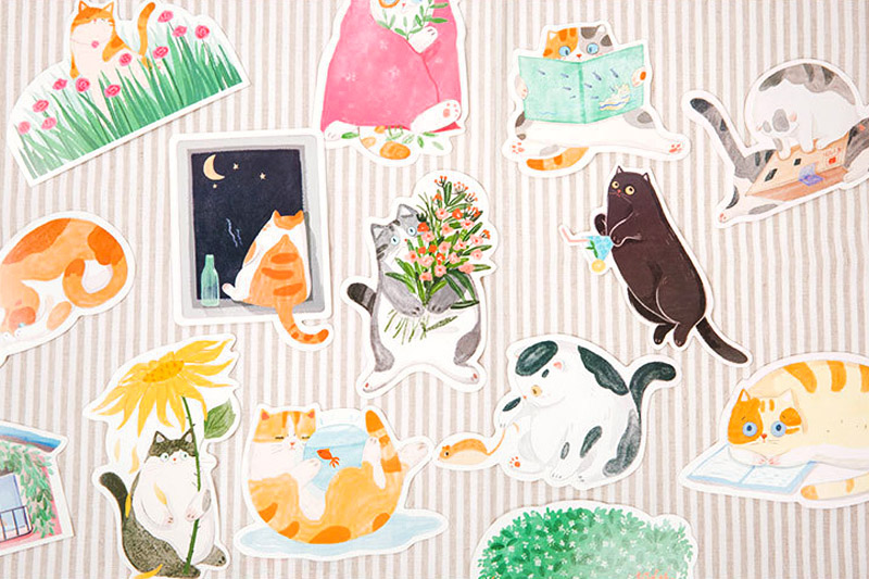 boutique kawaii shop chezfee carte postale postcard chat jardin 7