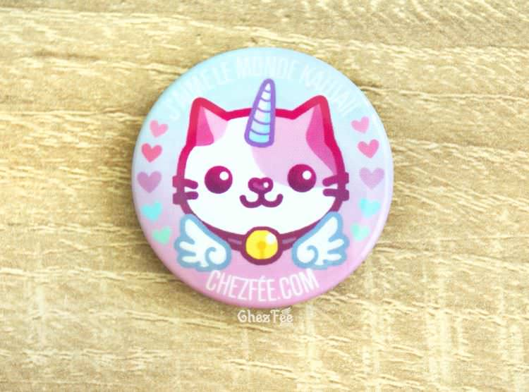 boutique kawaii chezfee cute shop badge chat licorne lolita pastel 3