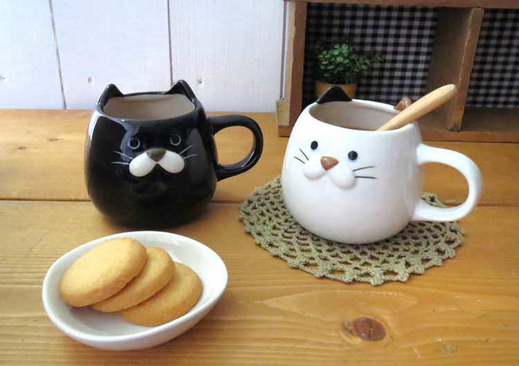 boutique kawaii shop chezfee cuisine japonaise mignon mug tasse cup cat chat tricolor 6