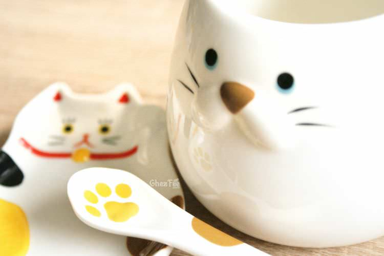 boutique kawaii shop chezfee decoration cuisine japonaise chat maneki neko assiette tasse cuillere 3