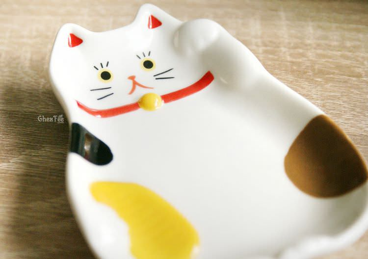 Maneki neko mini assiette kawaii chat maneki neko for Decoration cuisine kawaii