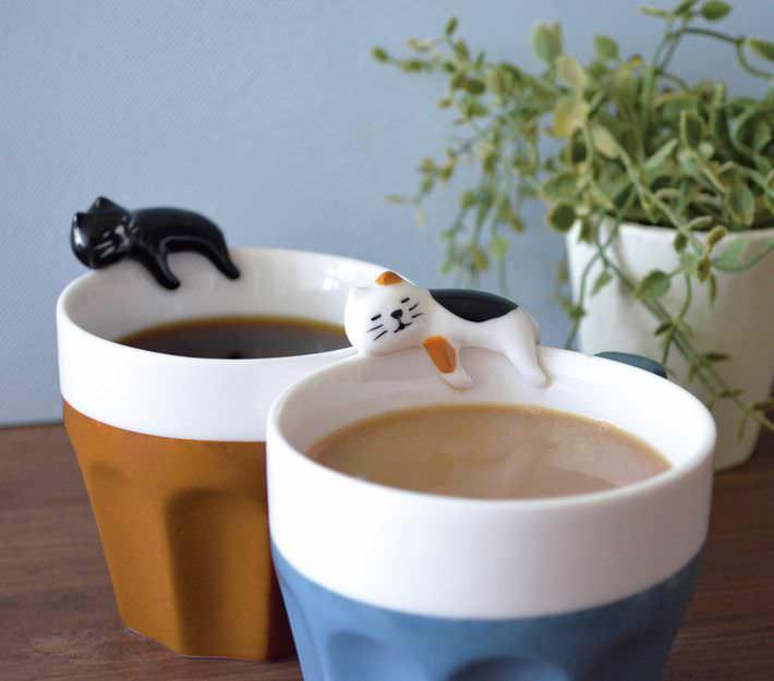 D corations maison mug kawaii petit chat tricolor s for Deco cuisine japonaise