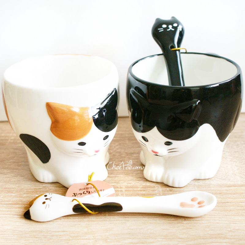 boutique kawaii shop chezfee mug tasse cuillere japonais decole chat 1