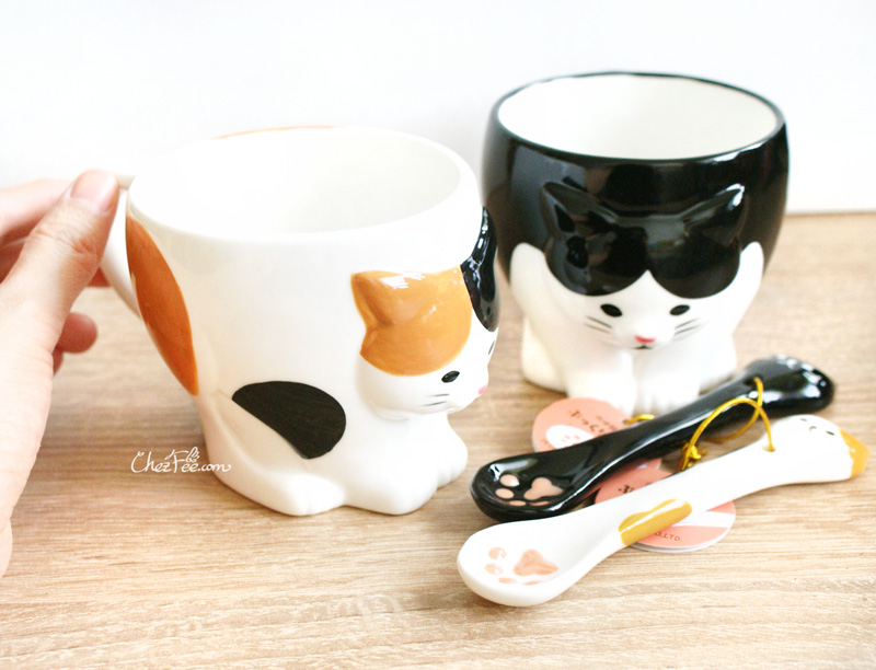 boutique kawaii shop chezfee mug tasse cuillere japonais decole chat 2