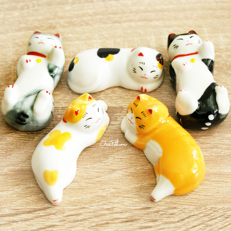 boutique kawaii shop chezfee repose baguette japonais ceramique chat detente 1